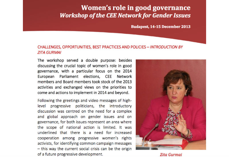 Women's role in good governance